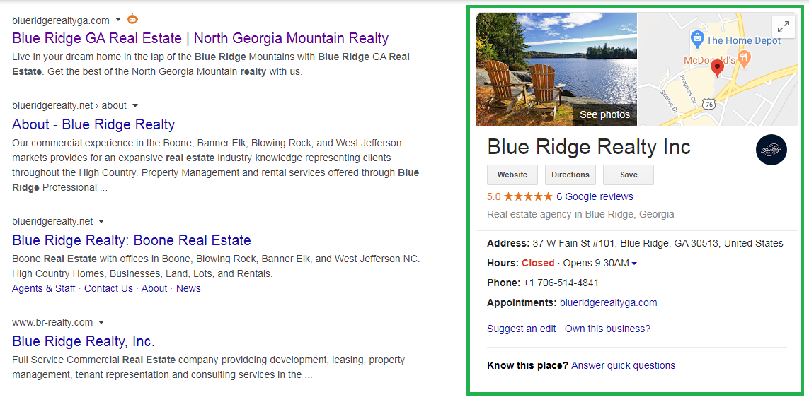 Blue Ridge Realty GMB