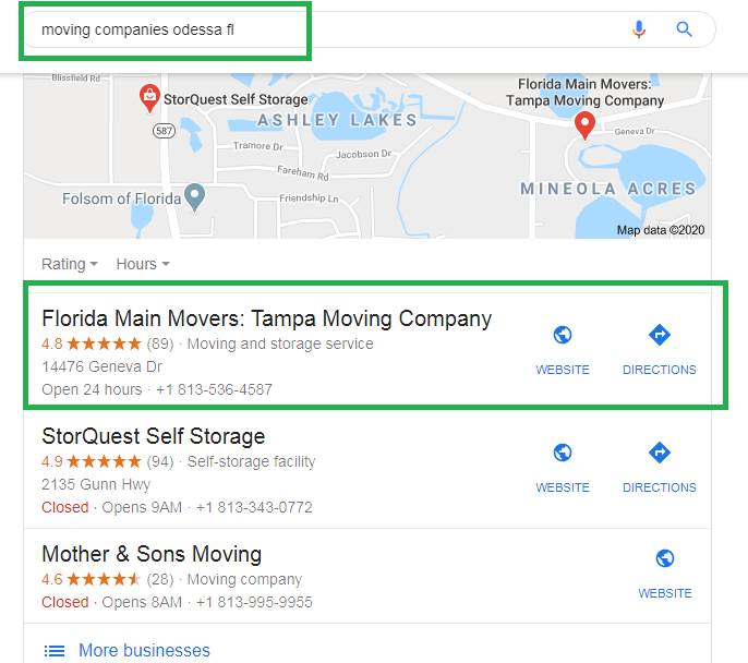 Florida Main Movers Local Rank