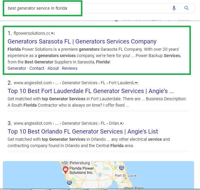 Florida Power Solution Local Rank
