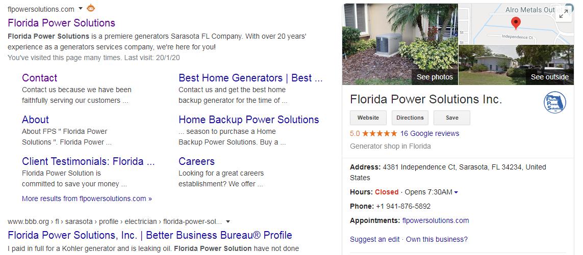 Florida Power Solution GMB
